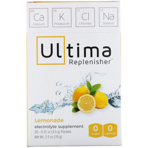 Ultima Replenisher, Electrolyte Powder, Lemonade, 20 Packets, 0.12 oz (3.5 g) Each Review