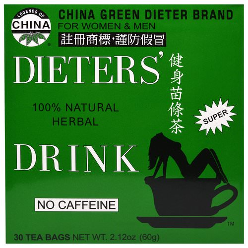Uncle Lee's Tea, Legends of China, Dieter's 100% Natural Herbal Drink, No Caffeine, 30 Tea Bags, 2.42 oz (69.g) Review
