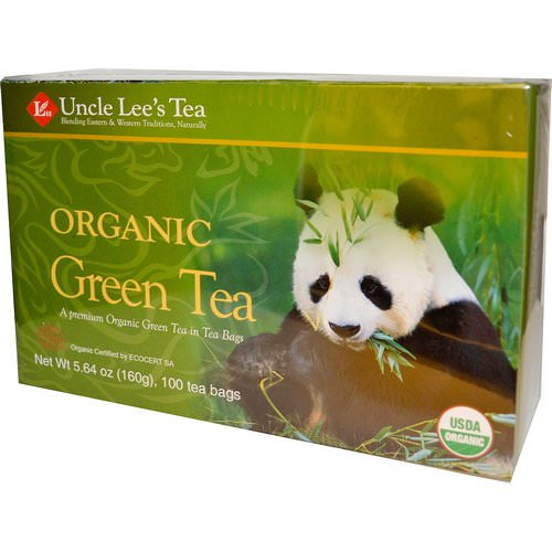 Uncle Lee's Tea, Organic Green Tea, 100 Tea Bags, 5.64 oz (160 g) Review