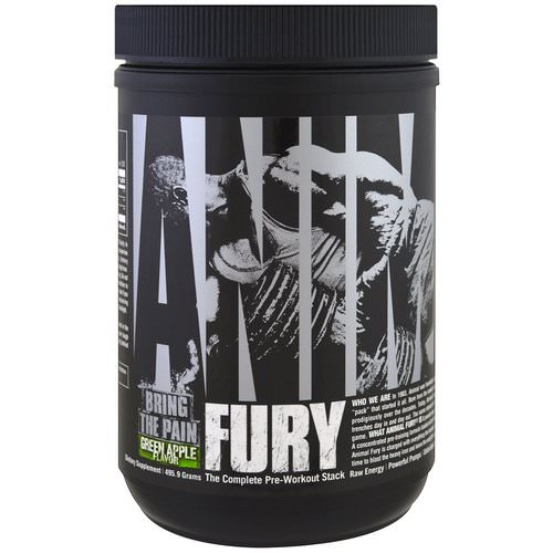Universal Nutrition, Animal Fury, Green Apple, 495.9 g Review