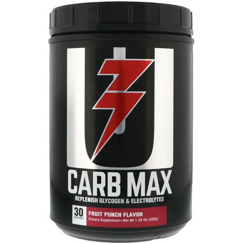 Universal Nutrition, Carb Max, Replenish Glycogen & Electrolytes, Fruit Punch, 1.39 lb (632 g) Review