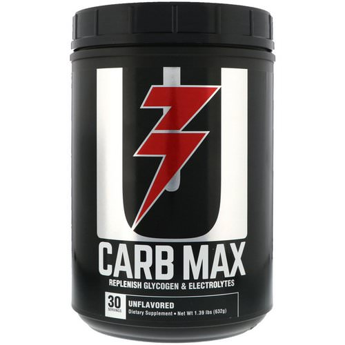 Universal Nutrition, Carb Max, Replenish Glycogen & Electrolytes, Unflavored, 1.39 lb (632 g) Review