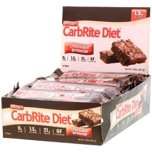 Universal Nutrition, Doctor's CarbRite Diet, Chocolate Brownie, 12 Bars, 2.00 oz (56.7 g) Each Review