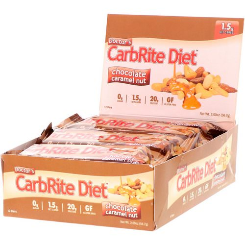 Universal Nutrition, Doctor's CarbRite Diet, Chocolate Caramel Nut, 12 Bars, 2.00 oz (56.7 g) Each Review
