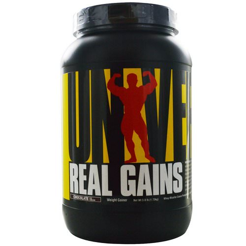 Universal Nutrition, Real Gains, Weight Gainer, Chocolate Ice Cream, 3.8 lb (1.73 kg) Review
