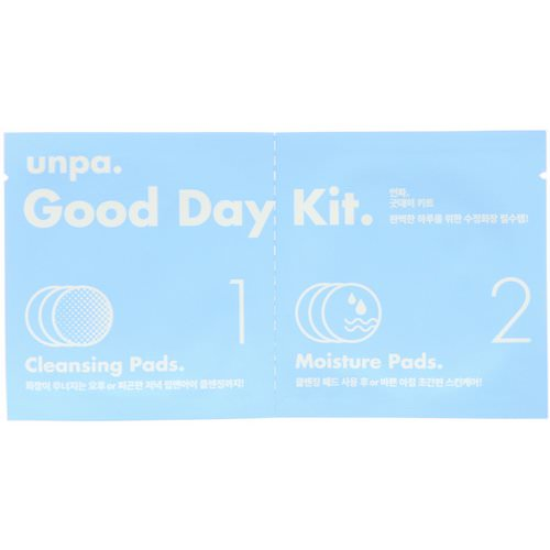 Unpa, Good Day Kit, Cleansing Pads & Moisture Pads, 6 Piece Kit Review