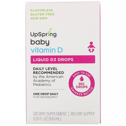 UpSpring, Baby, Liquid D3 Drops, Vitamin D, 0.31 fl oz (9.13 ml) Review