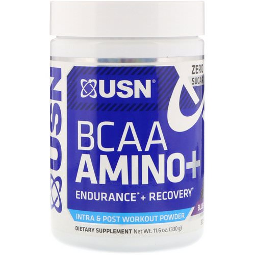USN, BCAA Aminos Plus, Blue Raspberry, 11.6 oz (330 g) Review