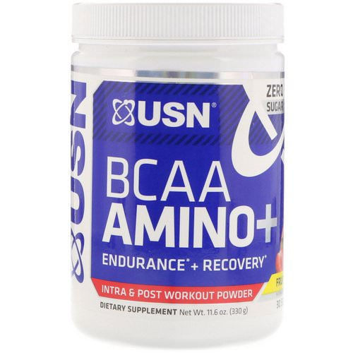 USN, BCAA Aminos Plus, Fruit Punch, 11.6 oz (330 g) Review