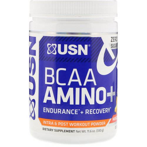 USN, BCAA Aminos Plus, Mango Pineapple, 11.6 oz (330 g) Review