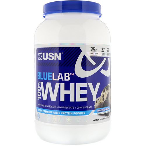 USN, Blue Lab 100% Whey, Cookies & Cream, 2 lb (907.2 g) Review