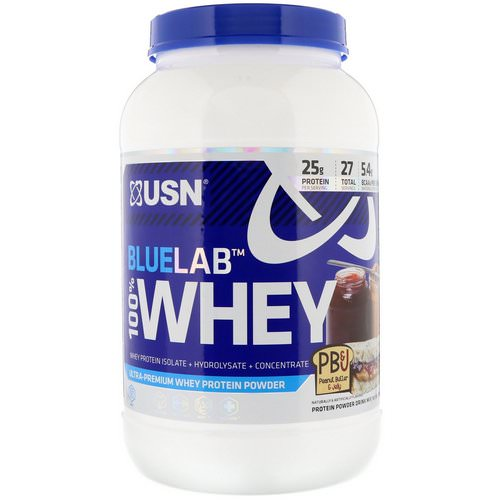 USN, BlueLab, 100% Whey, Peanut Butter & Jelly, 2 lbs (907.2 g) Review