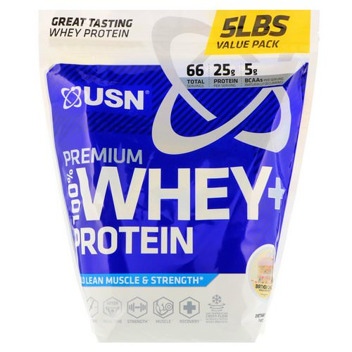 USN, Premium 100% Whey + Protein, Birthday Cake, 5 lbs (2.27 kg) Review