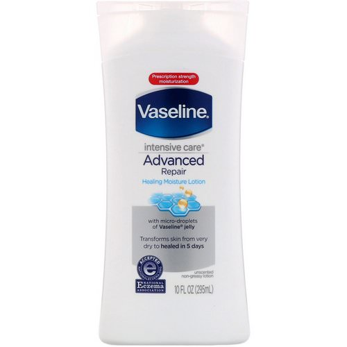Vaseline, Intensive Care, Advanced Repair Healing Moisture Lotion, Unscented, 10 fl oz (295 ml) Review