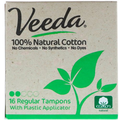 Veeda, 100% Natural Cotton Tampon with Plastic Applicator, Regular, 16 Tampons Review