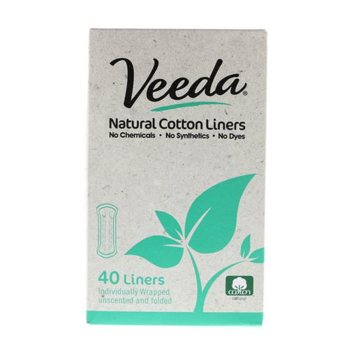 Veeda, Natural Cotton Liners, Unscented, 40 Liners Review