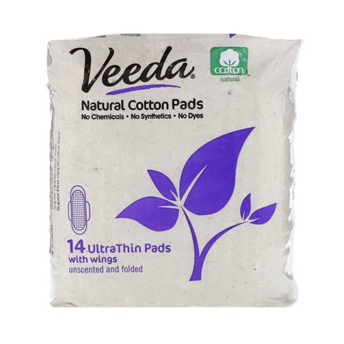 Veeda, Natural Cotton Pads with Wings, Ultra Thin, 14 Pads Review