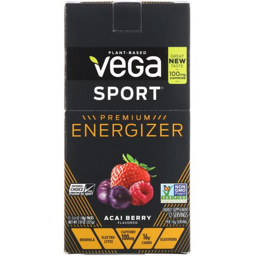 Vega, Energizer, Acai Berry, 12 Packs, 0.6 oz (18 g) Each Review