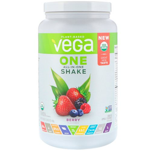 Vega, One, All-In-One Shake, Berry, 1.51 lbs (688 g) Review