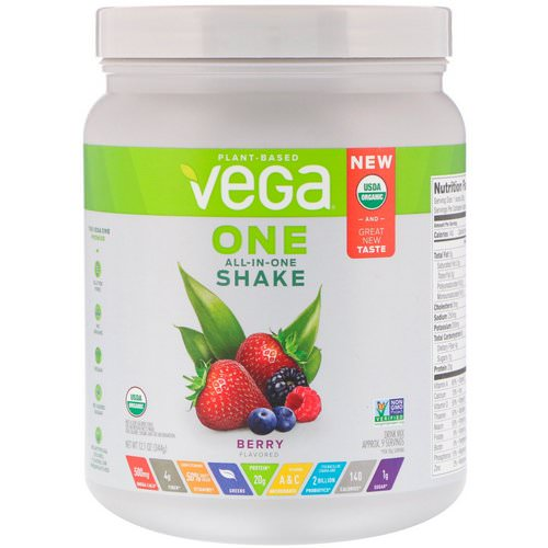 Vega, One, All-in-One Shake, Berry, 12.1 oz (344 g) Review