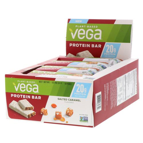 Vega, Protein Bar, Salted Caramel, 12 Bars, 2.5 oz (70 g) Each Review