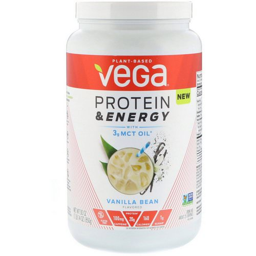Vega, Protein & Energy, Vanilla Bean, 1.87 lbs (850 g) Review
