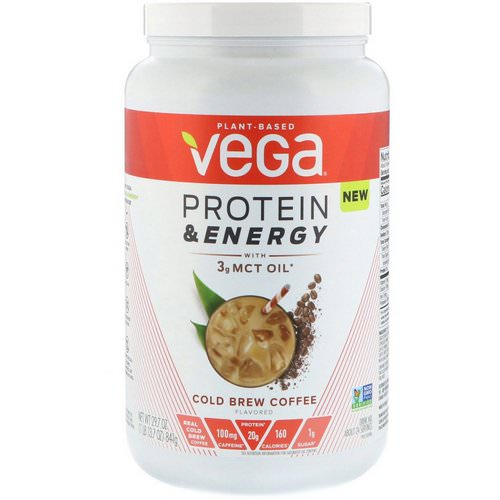Vega, Protein & Energy, Cold Brew Coffee, 1.85 lbs (841 g) Review