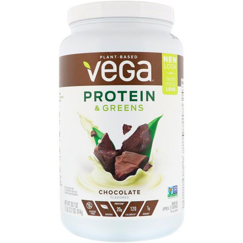 Vega, Protein & Greens, Chocolate Flavored, 1.8 lbs (814 g) Review