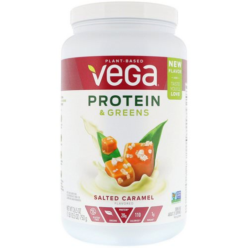 Vega, Protein & Greens, Salted Caramel, 1.65 lbs (750 g) Review