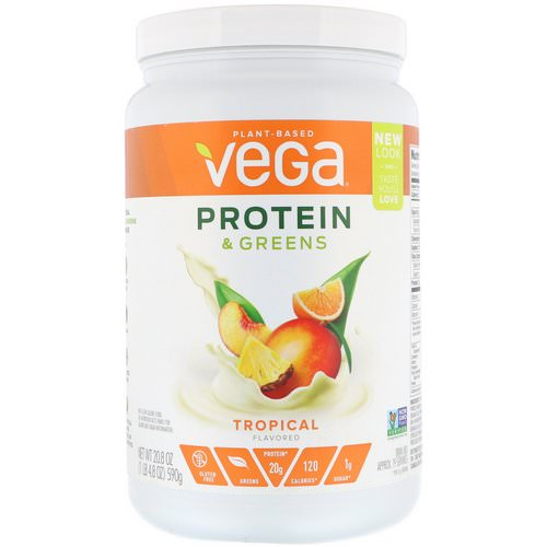 Vega, Protein & Greens, Tropical Flavored, 1.3 lbs (590 g) Review