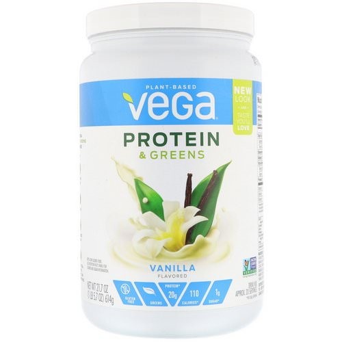 Vega, Protein & Greens, Vanilla Flavored, 1.35 lbs (614 g) Review