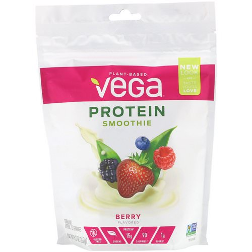 Vega, Protein Smoothie, Berry, 9.2 oz (262 g) Review