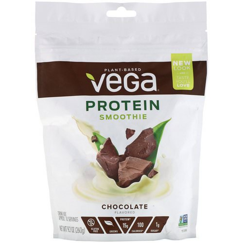 Vega, Protein Smoothie, Chocolate Flavored, 9.2 oz (260 g) Review