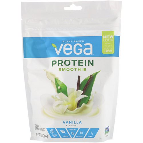Vega, Protein Smoothie, Vanilla, 9.3 oz (264 g) Review