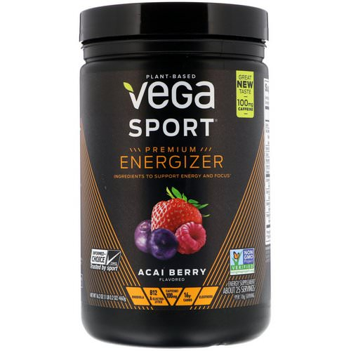 Vega, Sport, Energizer, Acai Berry, 16.2 oz (460 g) Review