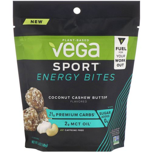 Vega, Sport Energy Bites, Coconut Cashew Butter, 5.6 oz (160 g) Review