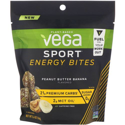 Vega, Sport Energy Bites, Peanut Butter Banana, 5.6 oz (160 g) Review