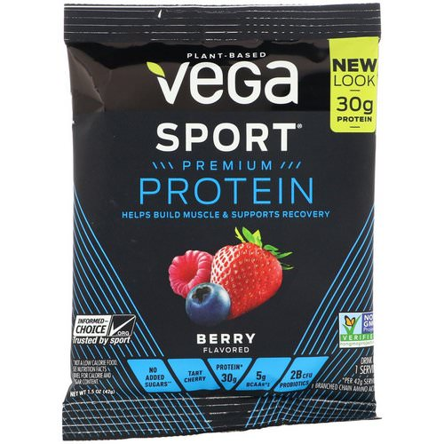 Vega, Sport Premium Protein, Berry, 1.5 oz (42 g) Review