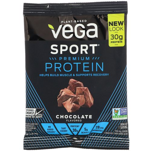 Vega, Sport Premium Protein, Chocolate, 1.6 oz (44 g) Review
