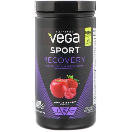 Vega, Sport, Recovery, Apple Berry, 1.2 lbs (540 g) Review