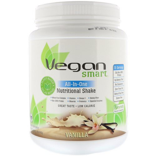 VeganSmart, All-In-One Nutritional Shake, Vanilla, 1.42 lbs (645 g) Review