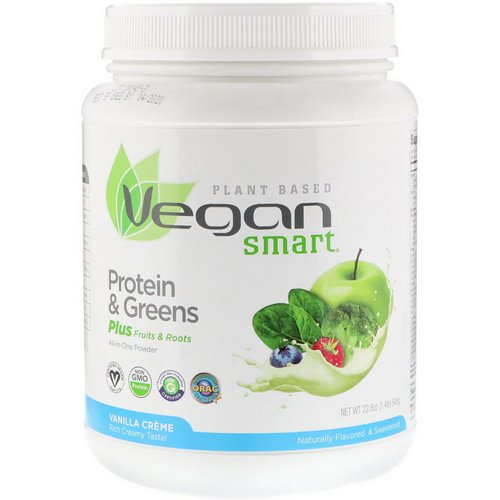 VeganSmart, Protein & Greens, All-In-One Powder, Vanilla Creme, 1.42 lbs (645 g) Review
