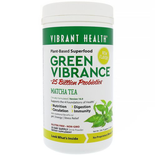 Vibrant Health, Green Vibrance +25 Billion Probiotics, Version 16.0, Matcha Tea, 11.88 oz (336.75 g) Review