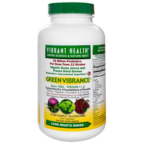 Vibrant Health, Green Vibrance, Version 17.0, 240 VegiCaps Review