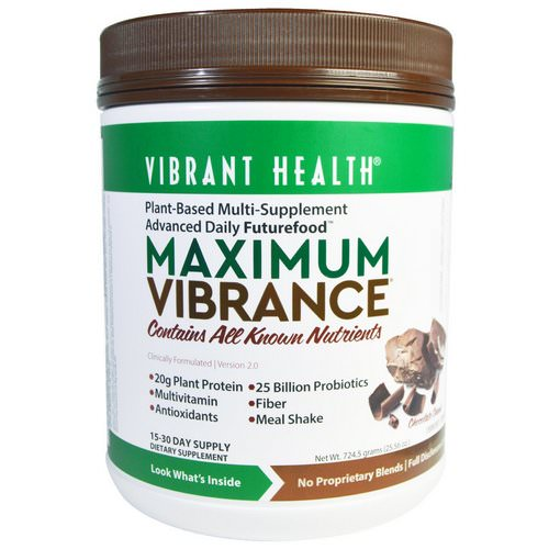 Vibrant Health, Maximum Vibrance, Version 2.0, Chocolate Chunk, 1.6 lbs (724.5 g) Review