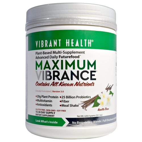 Vibrant Health, Maximum Vibrance, Version 3.0, Vanilla Bean, 1.4 lbs (626.4 g) Review