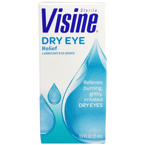 Visine, Dry Eye Relief, Lubricant Eye Drops, Sterile, 1/2 fl oz (15 ml) Review