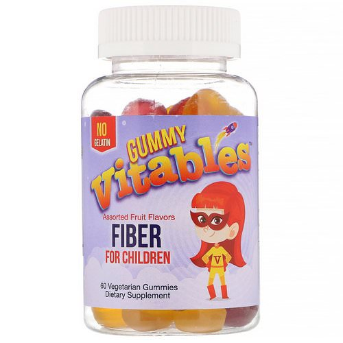 Vitables, Gummy Fiber For Children, No Gelatin, Assorted Fruit Flavors, 60 Vegetarian Gummies Review