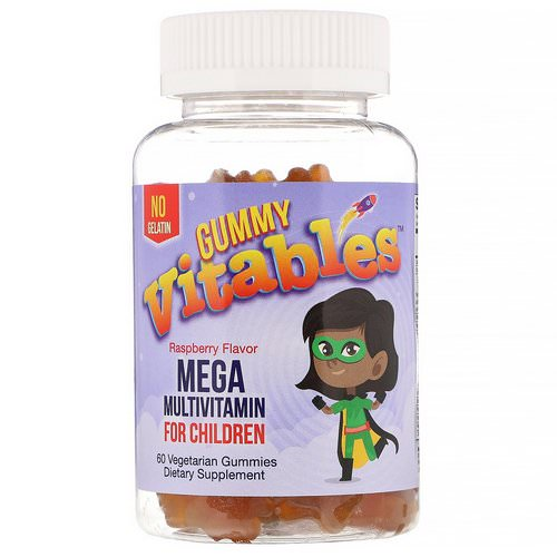 Vitables, Gummy Mega Multivitamin for Children, No Gelatin, Raspberry Flavor, 60 Vegetarian Gummies Review