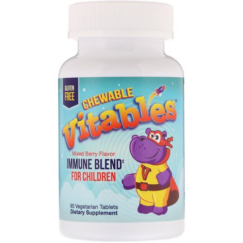 Vitables, Immune Blend Chewables for Children, Mixed Berry, 90 Vegetarian Tablets Review